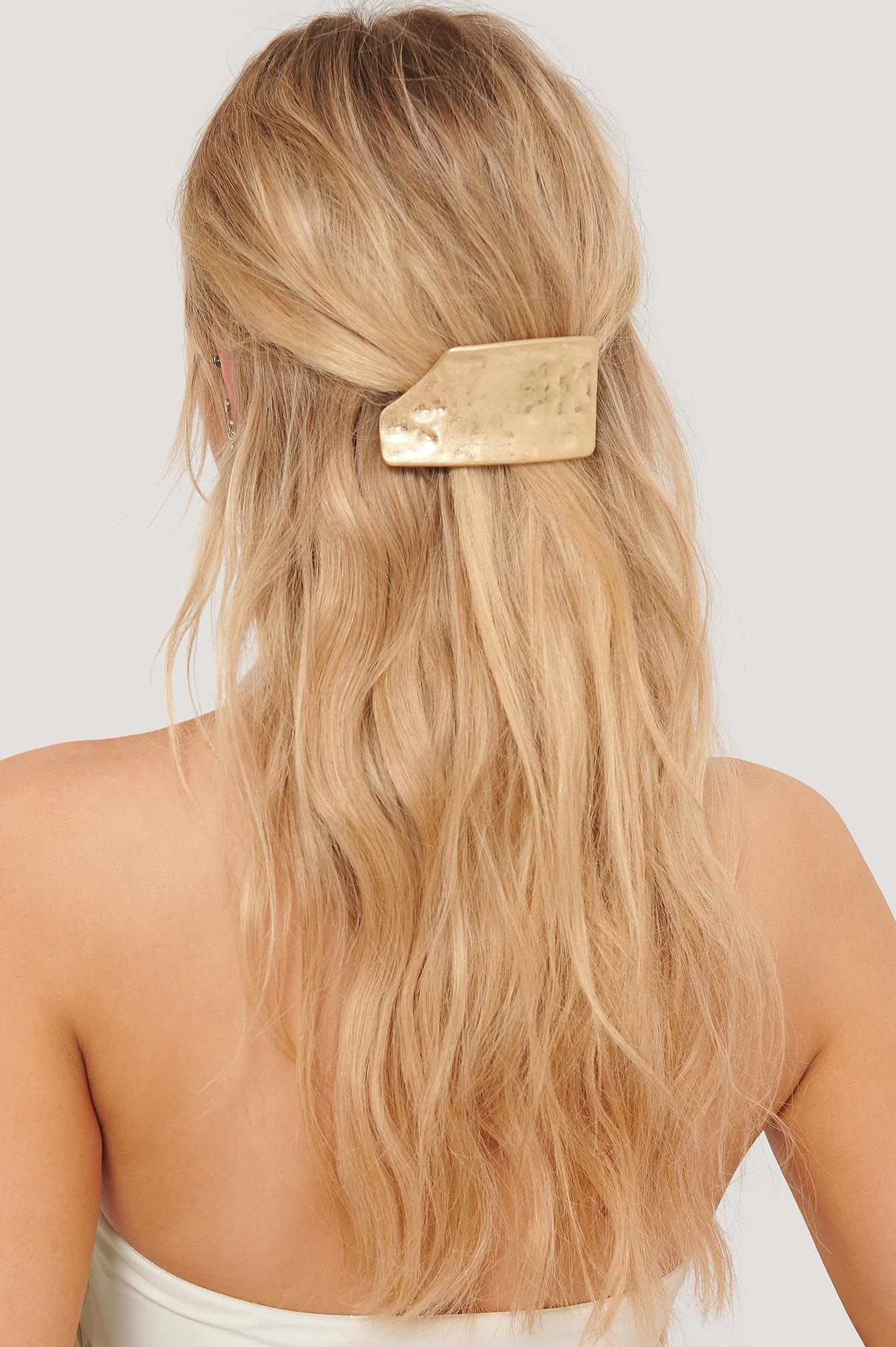 na-kd accessories -  Broken Look Matte Haarspange - Gold