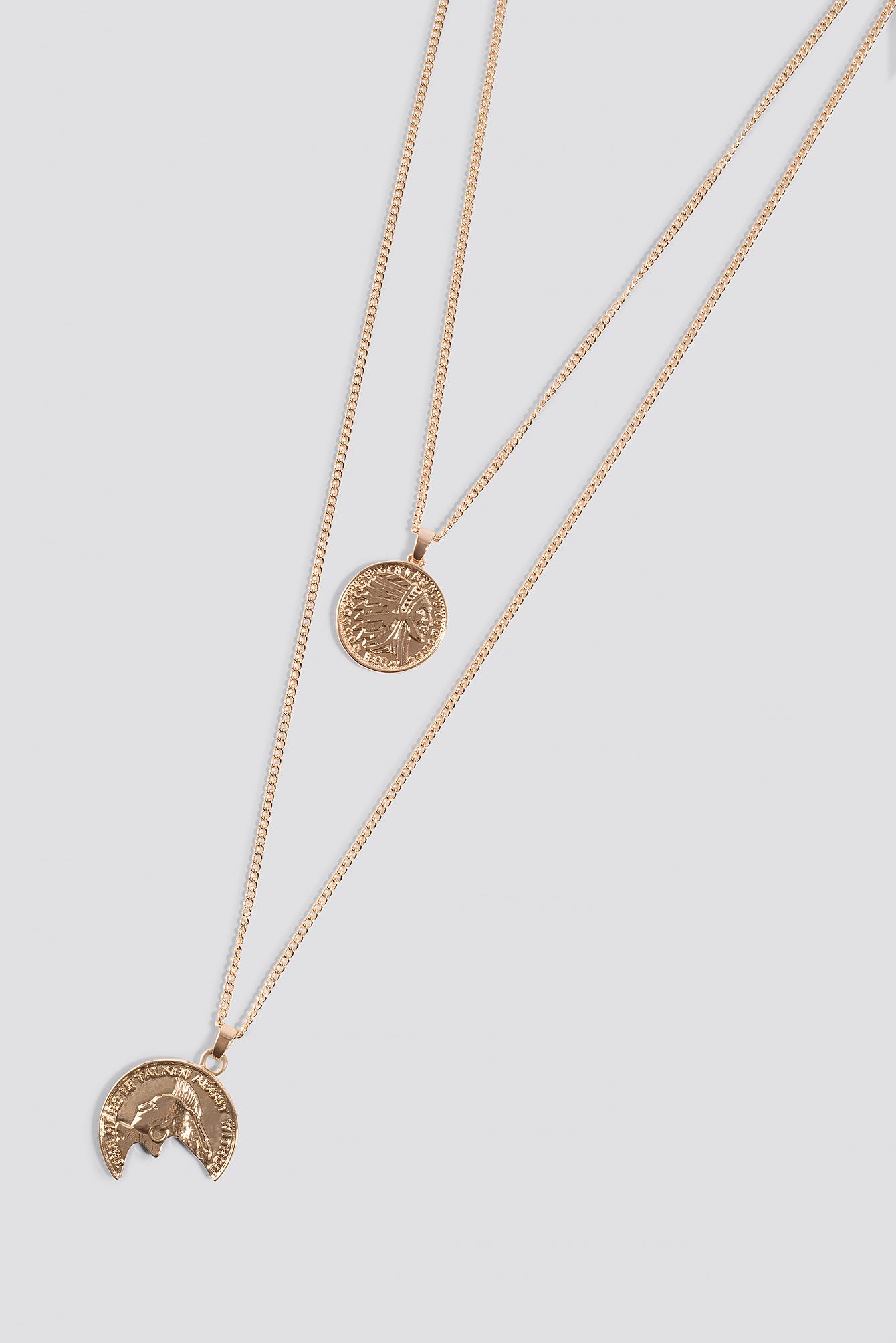 Broken Vintage Coin Necklace NA-KD.COM