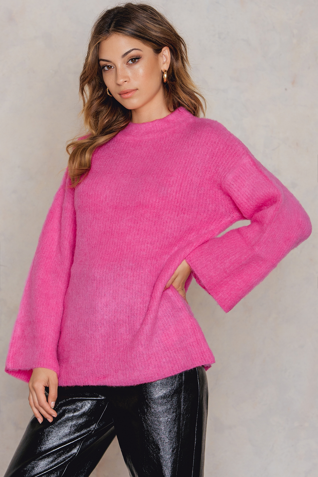 Pink Brush Sweater