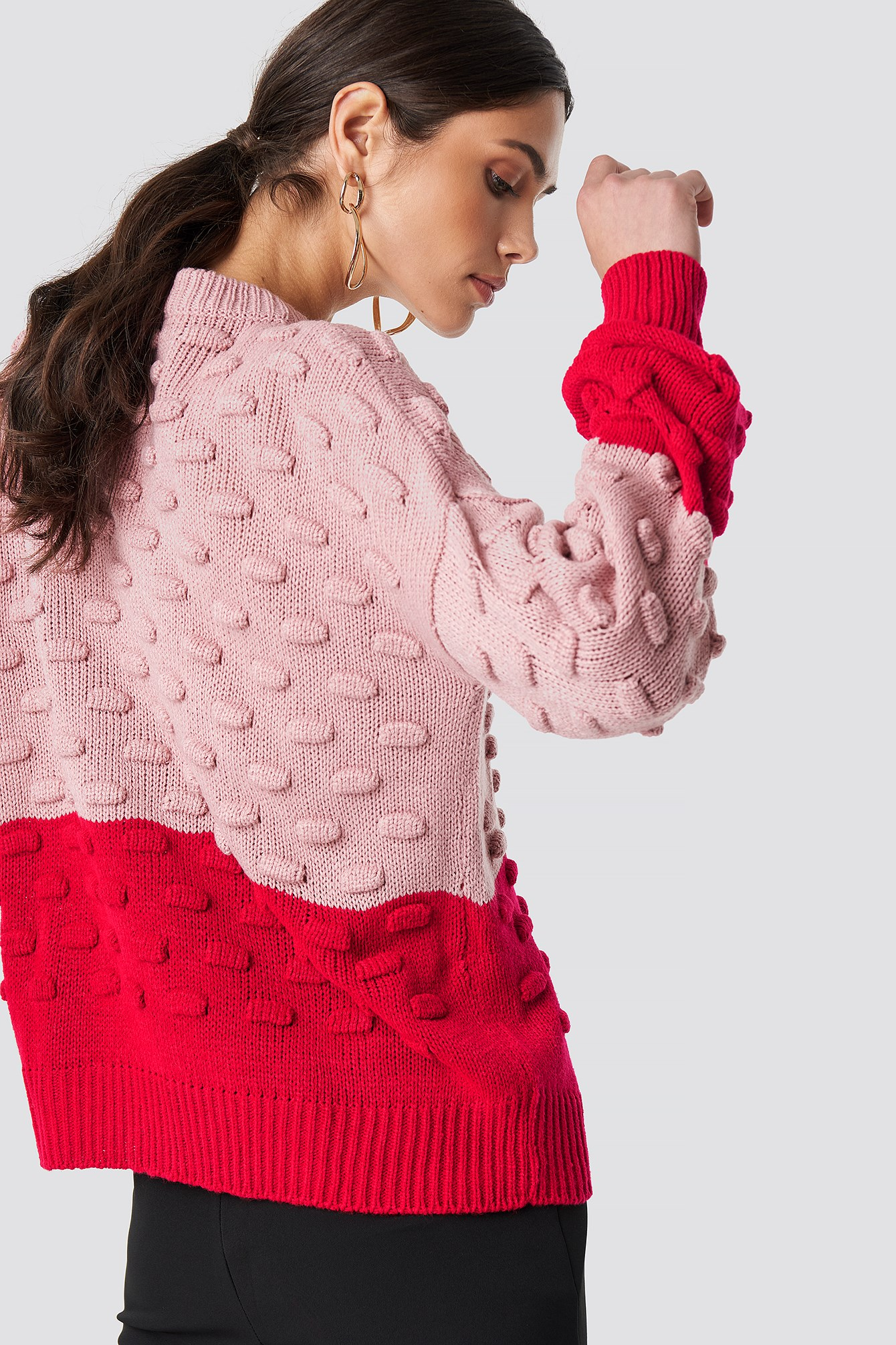 Bubble Stitch Knitted Sweater  NA-KD.COM