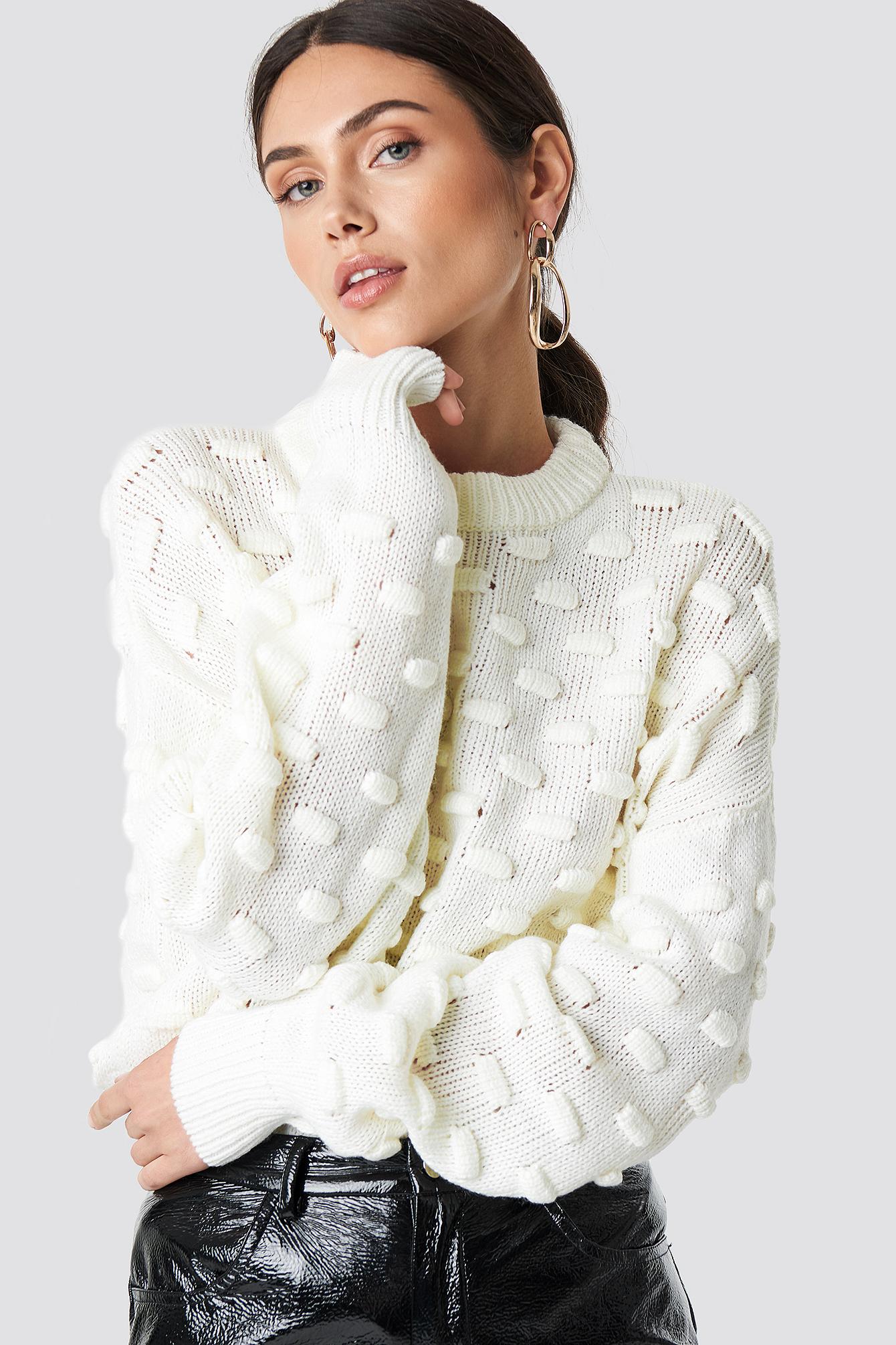 Bubble Stitch Knitted Sweater  NA-KD.COM