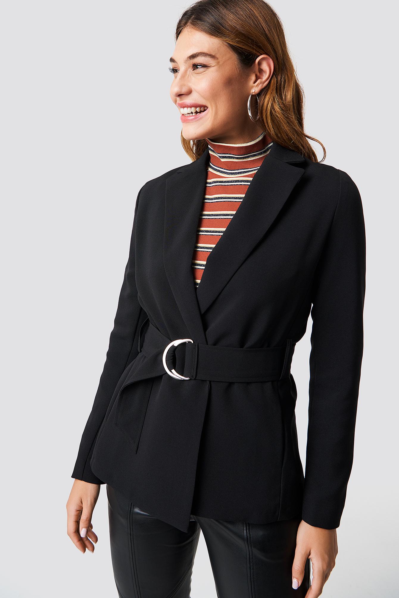 Buckle Belted Blazer NA-KD.COM