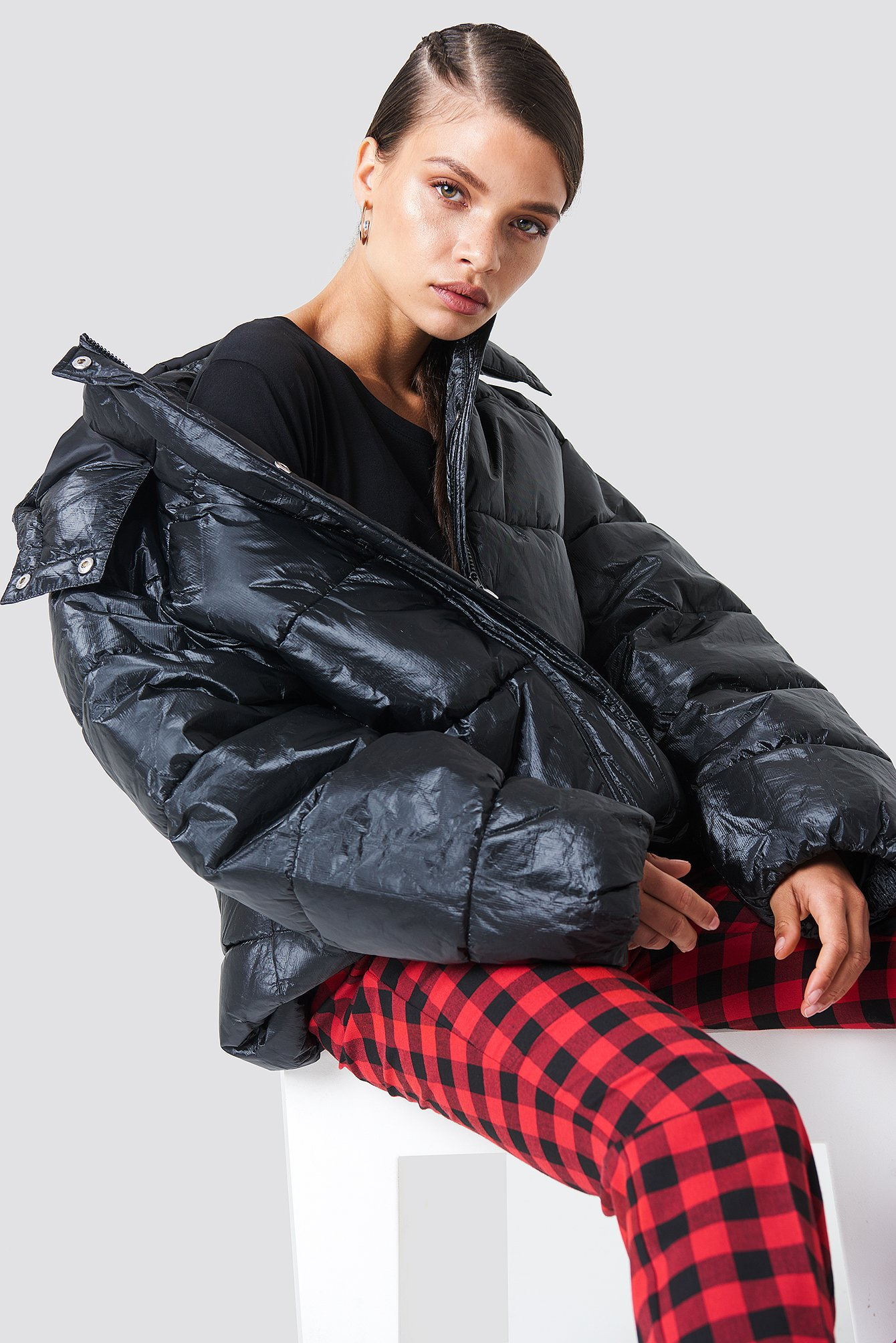 na-kd trend -  Big Puff Jacket - Black