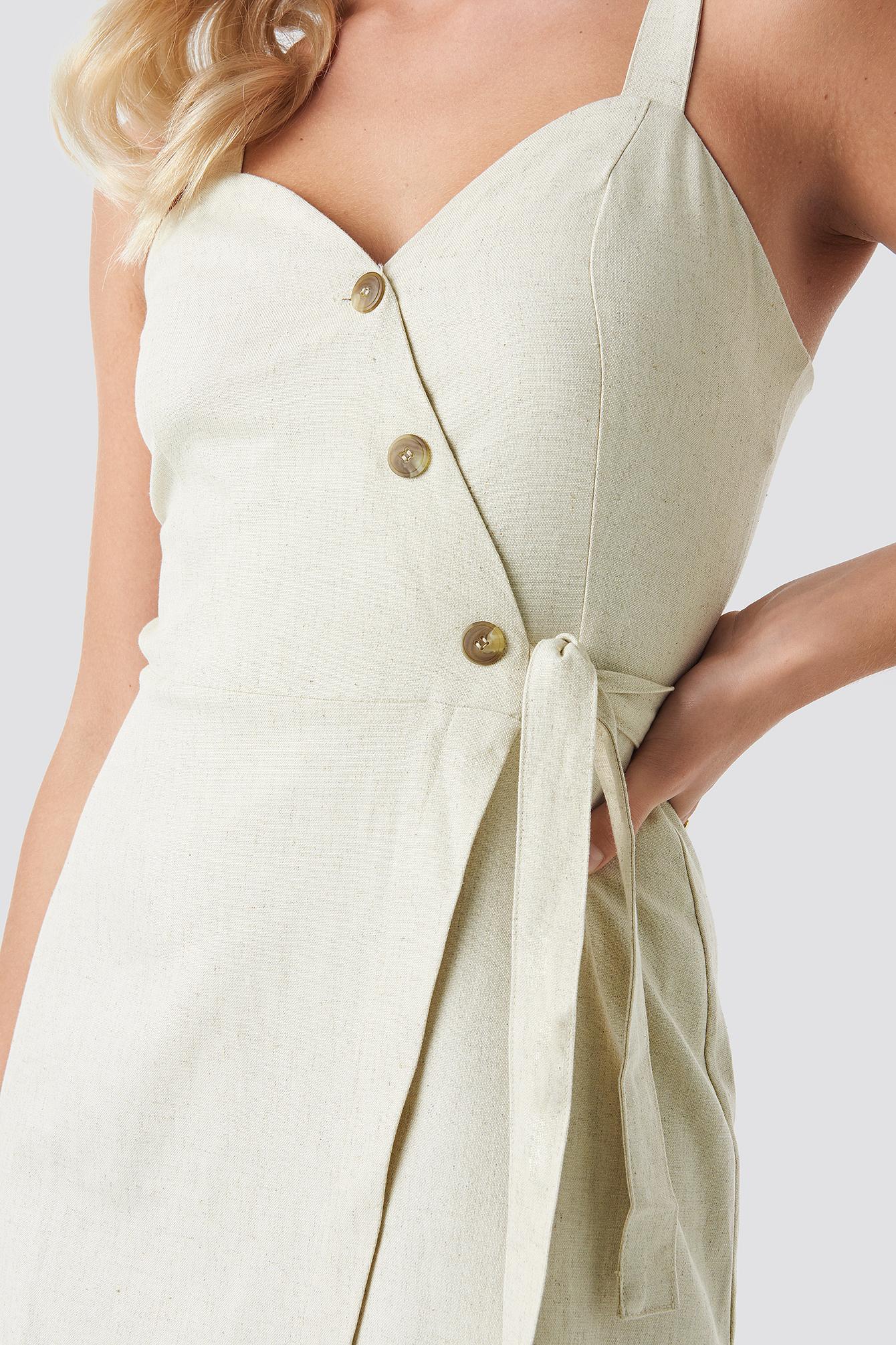 Button Detail Waistband Dress NA-KD.COM