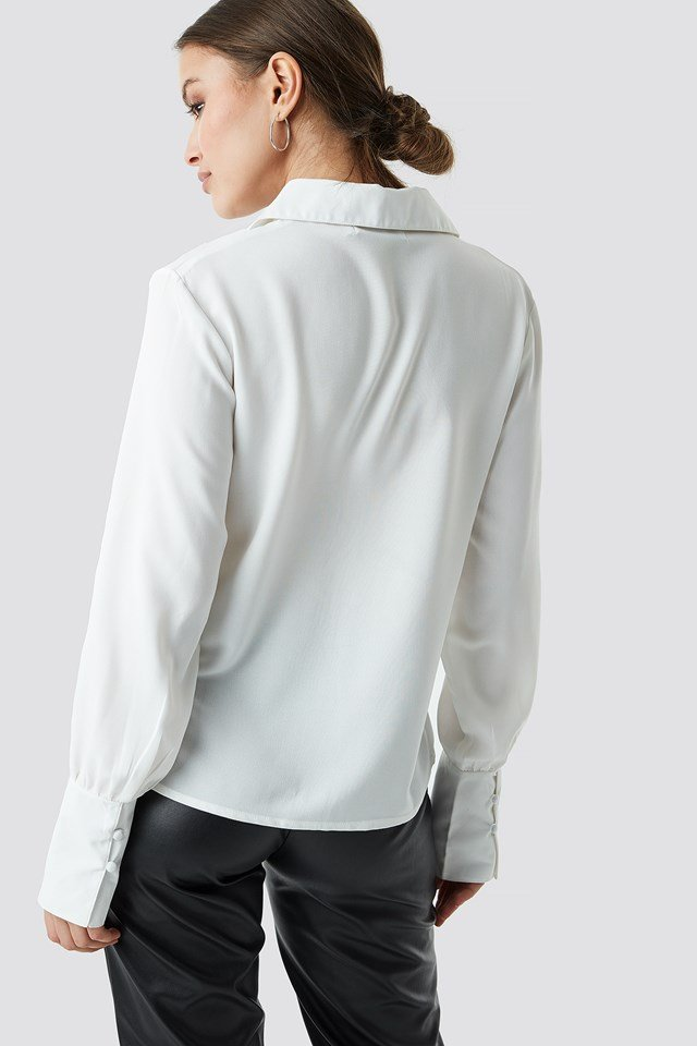 Button Detailed Blouse NA-KD.COM