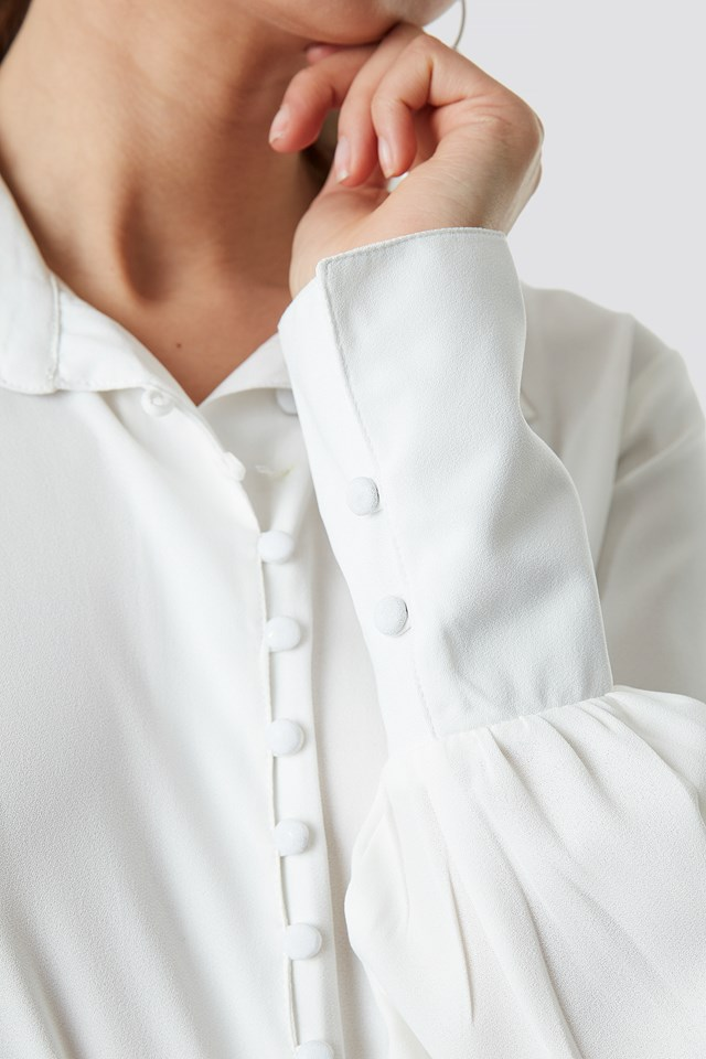 Button Detailed Blouse Offwhite