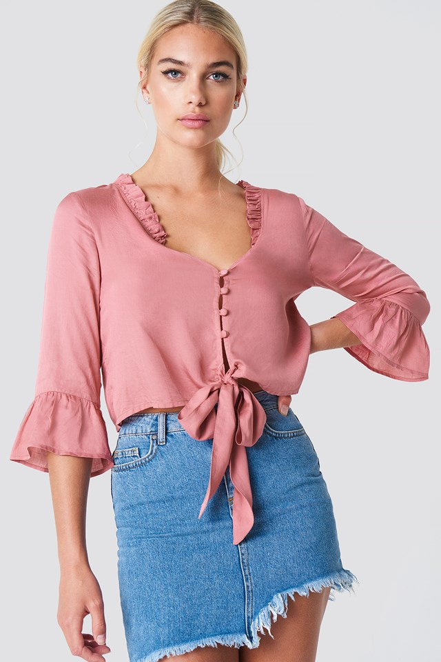 Button Knot Blouse NA-KD.COM