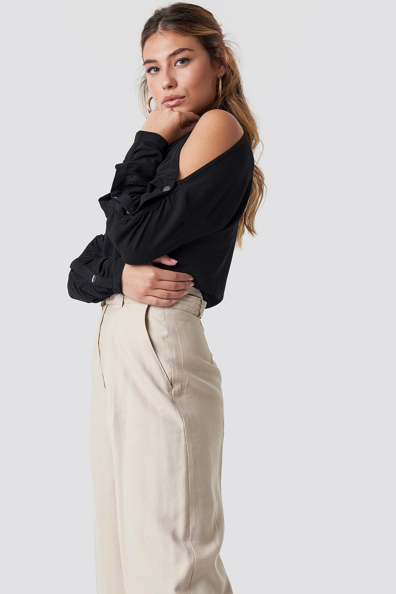 Bluza z guzikami na rękawach NA-KD.COM
