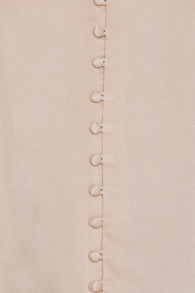 Button Slip Singlet Champange