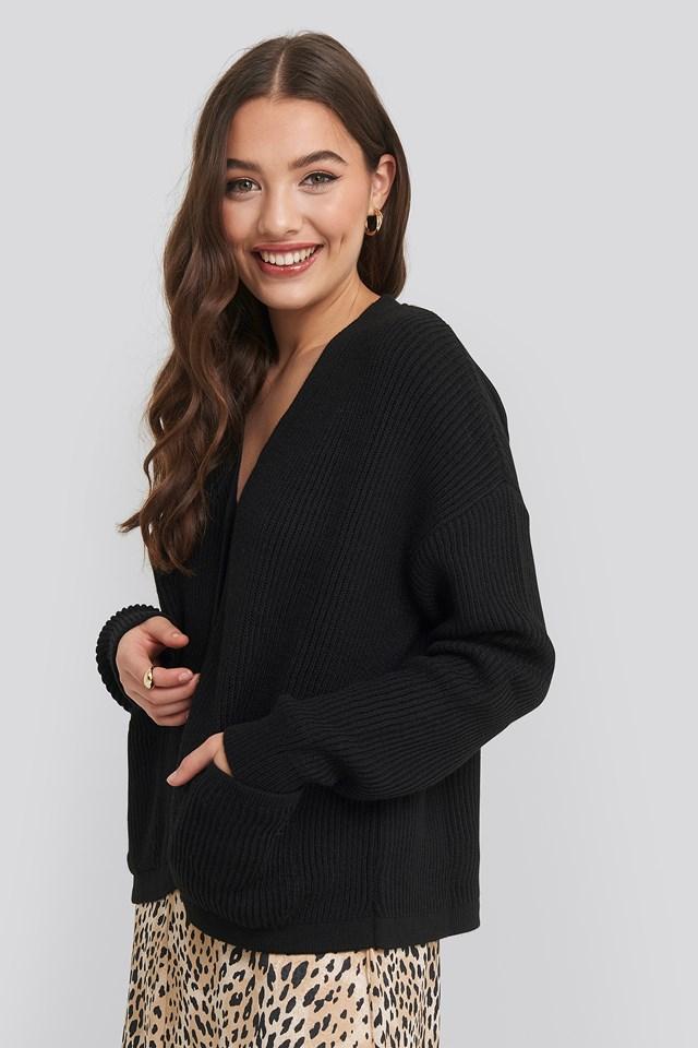 Button Up Boxy Cropped Cardigan NA-KD