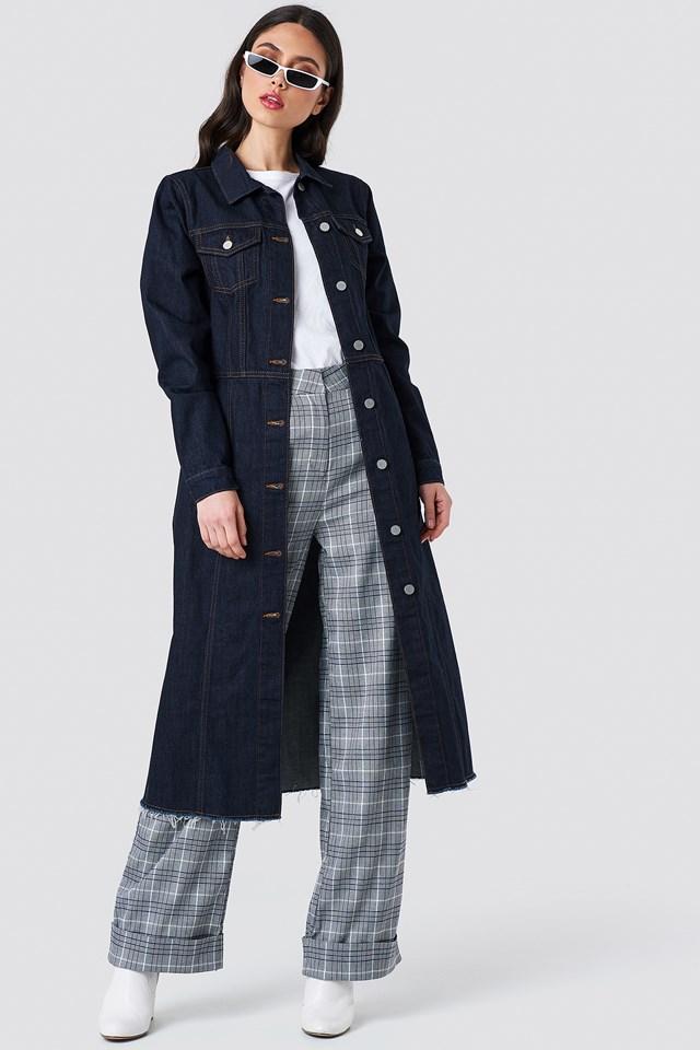 Button Up Denim Coat NA-KD.COM