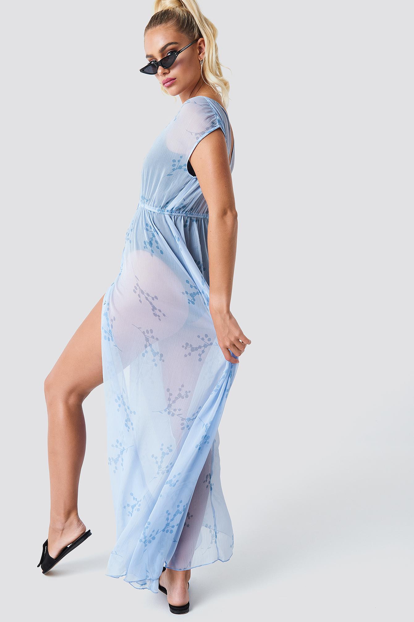 Button Up Kimono Dress NA-KD.COM