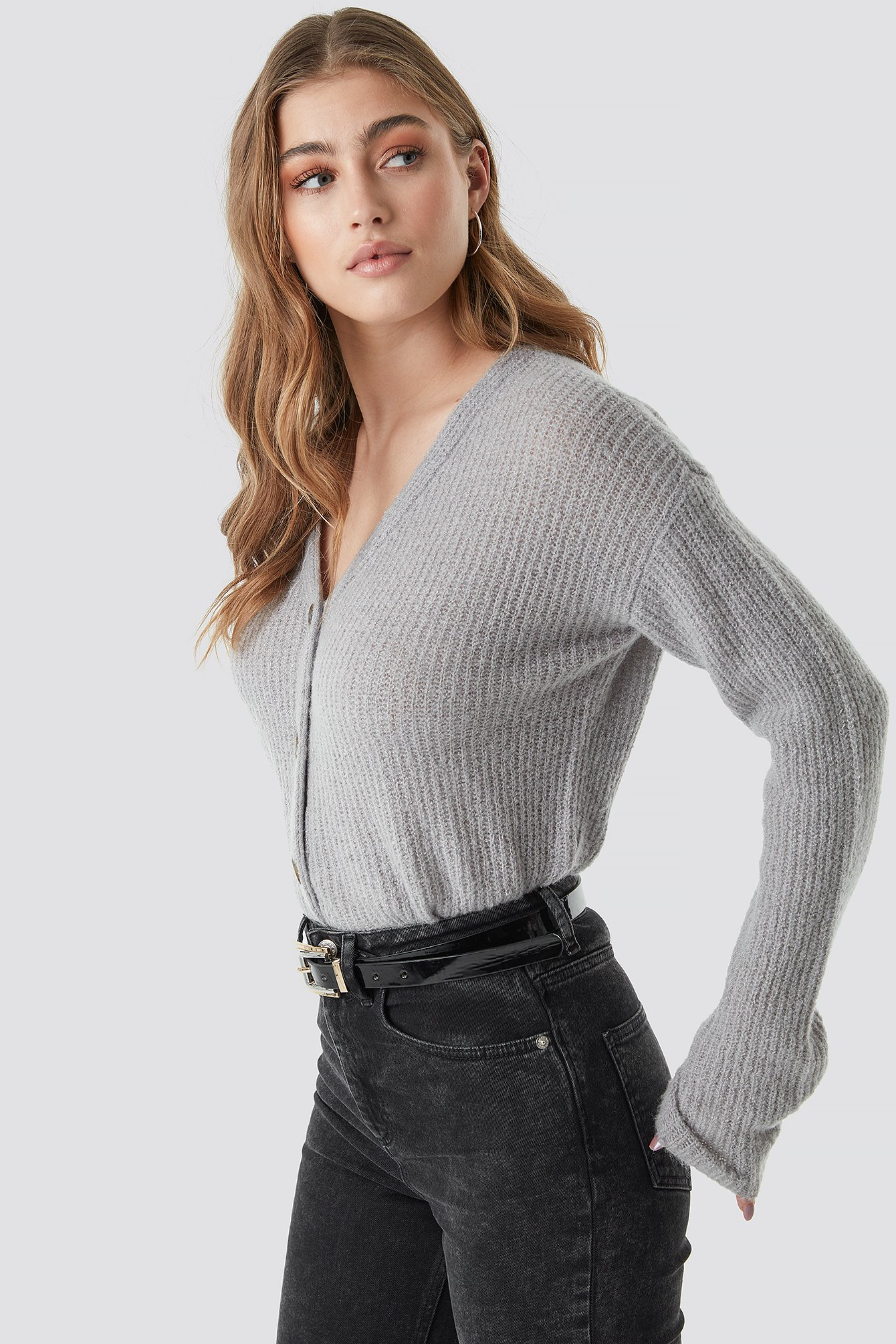 Buttoned Knitted Cardigan NA-KD.COM