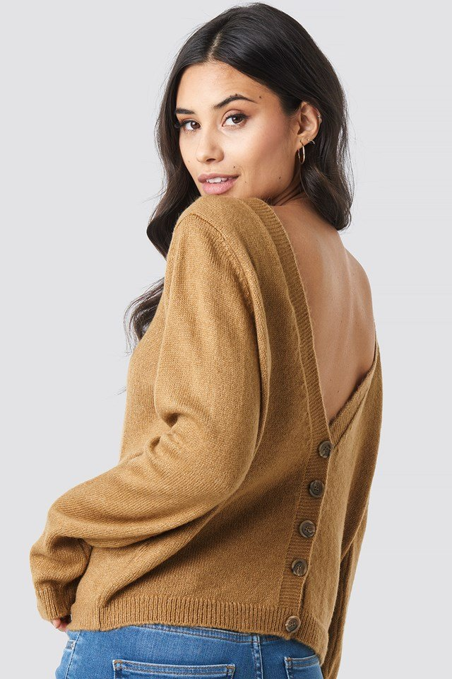 Buttoned Knitted Sweater NA-KD