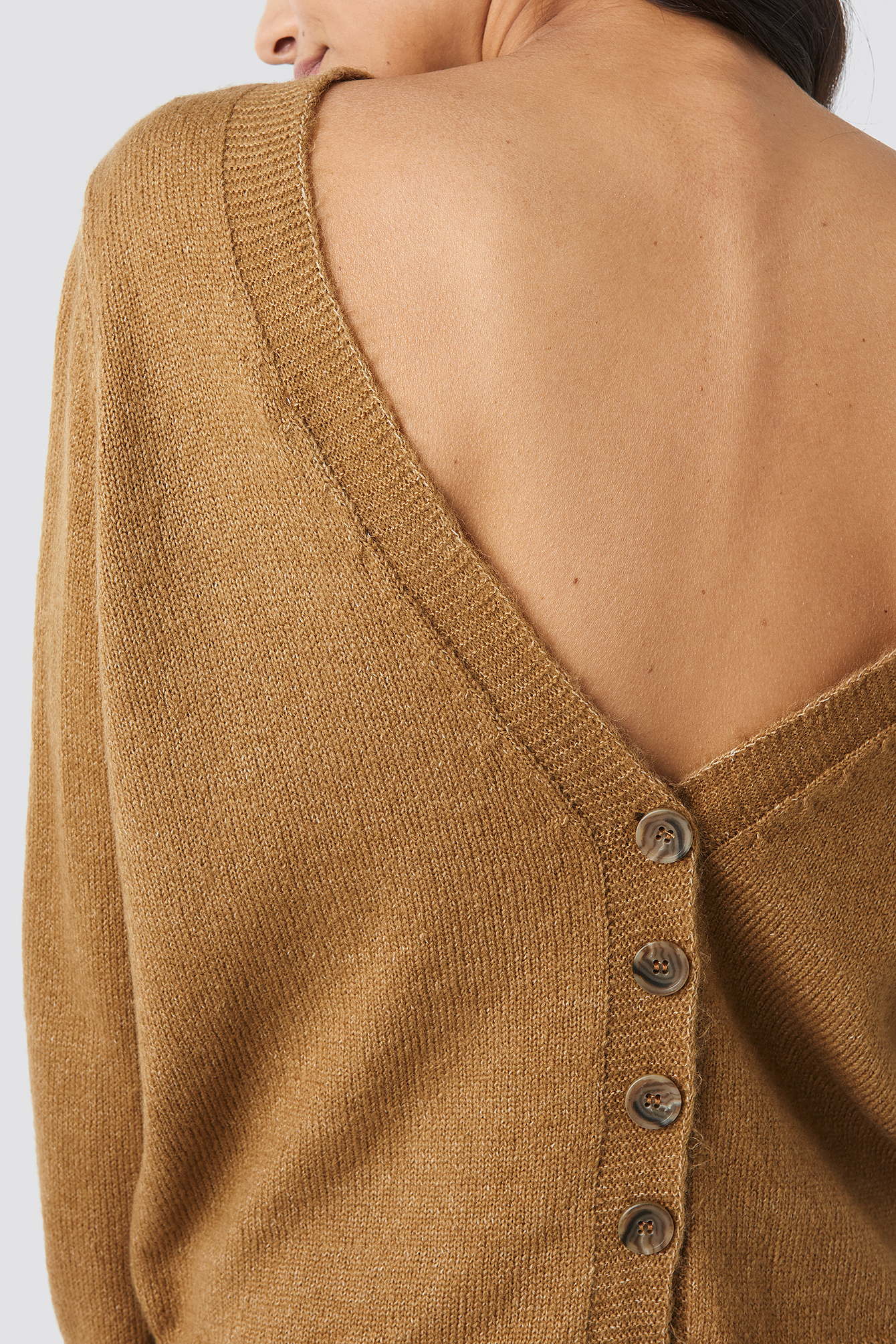 Buttoned Knitted Sweater NA-KD.COM