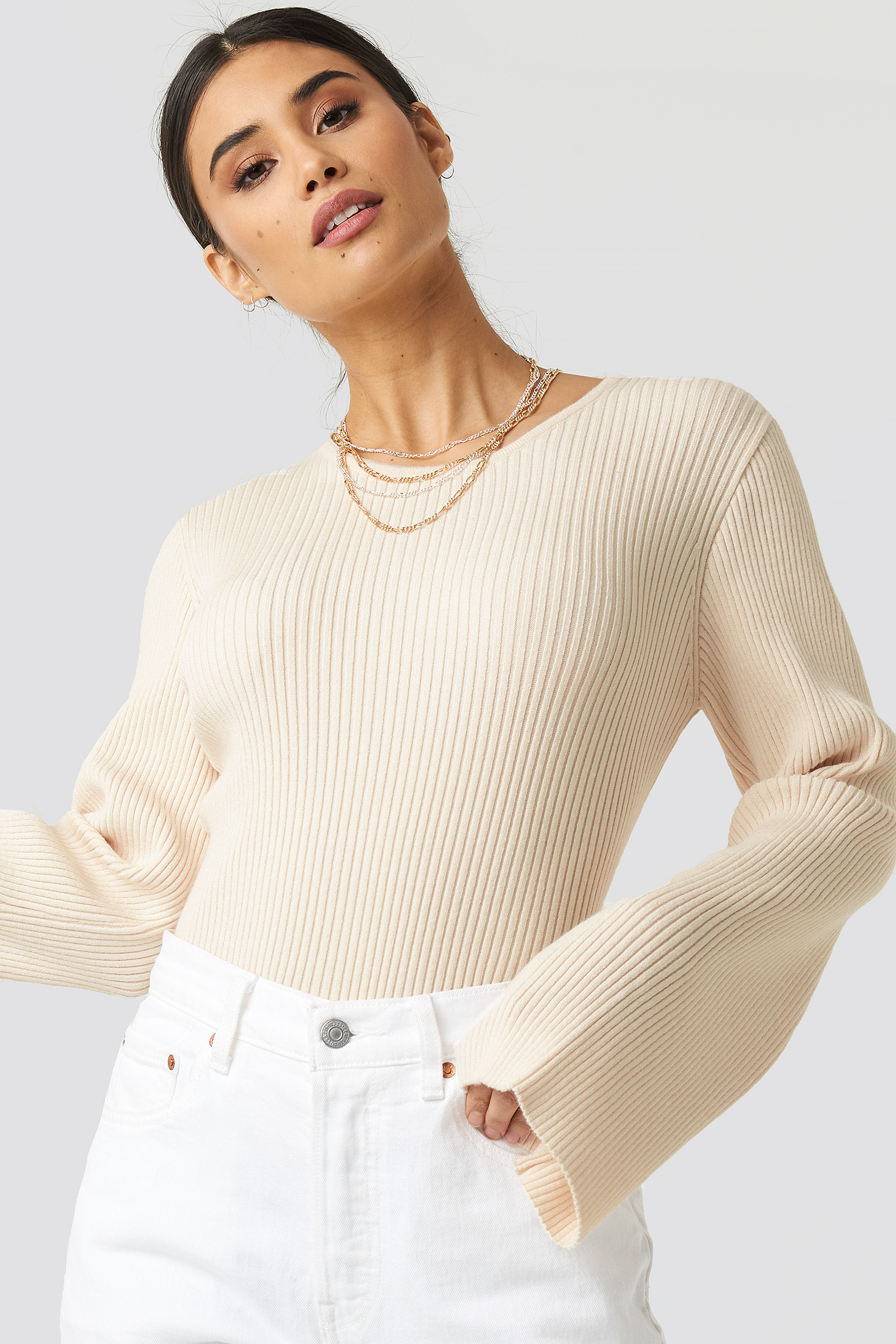 Cam Rib Knitted Top NA-KD.COM