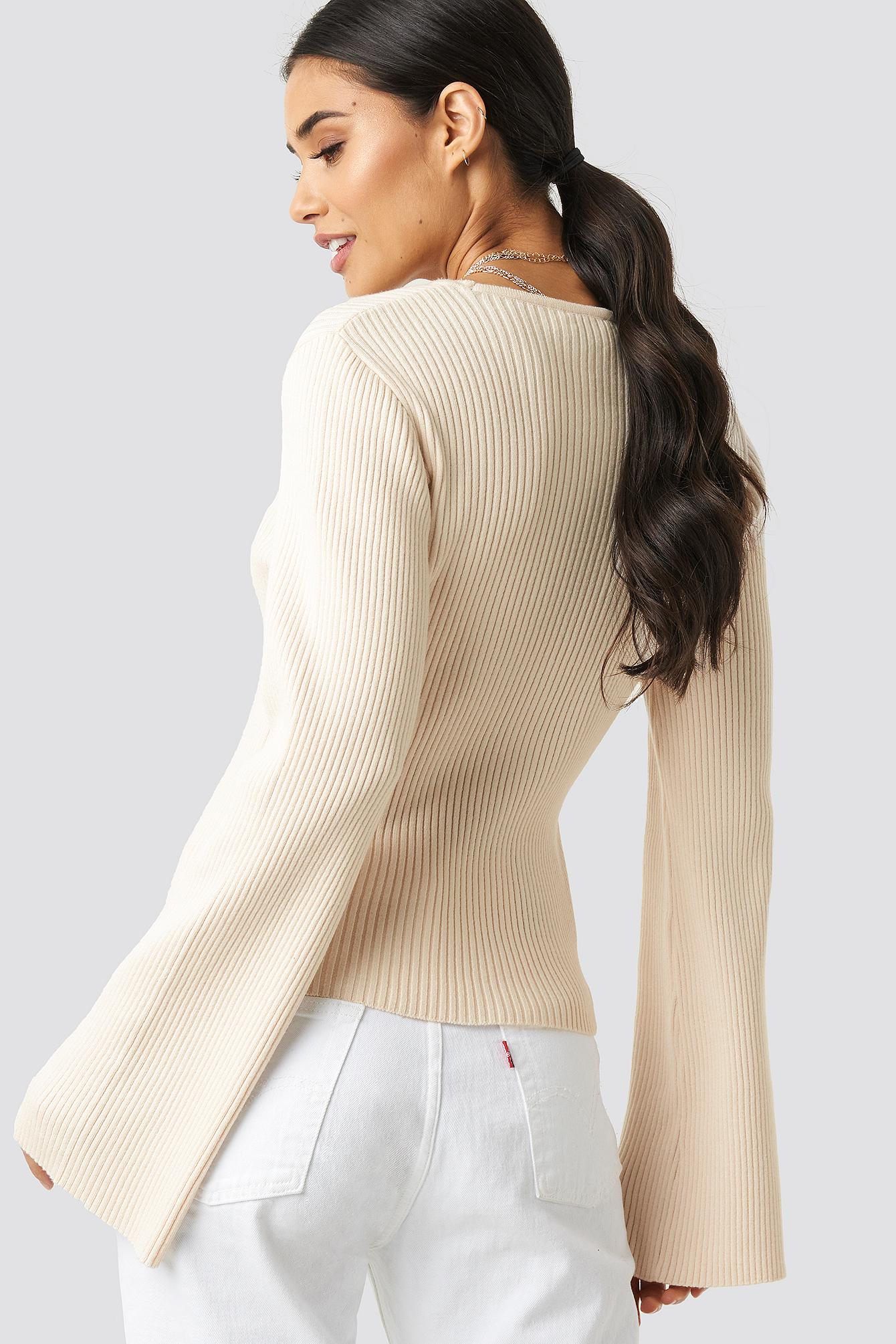 Cam Rib Knitted Top NA-KD.COM