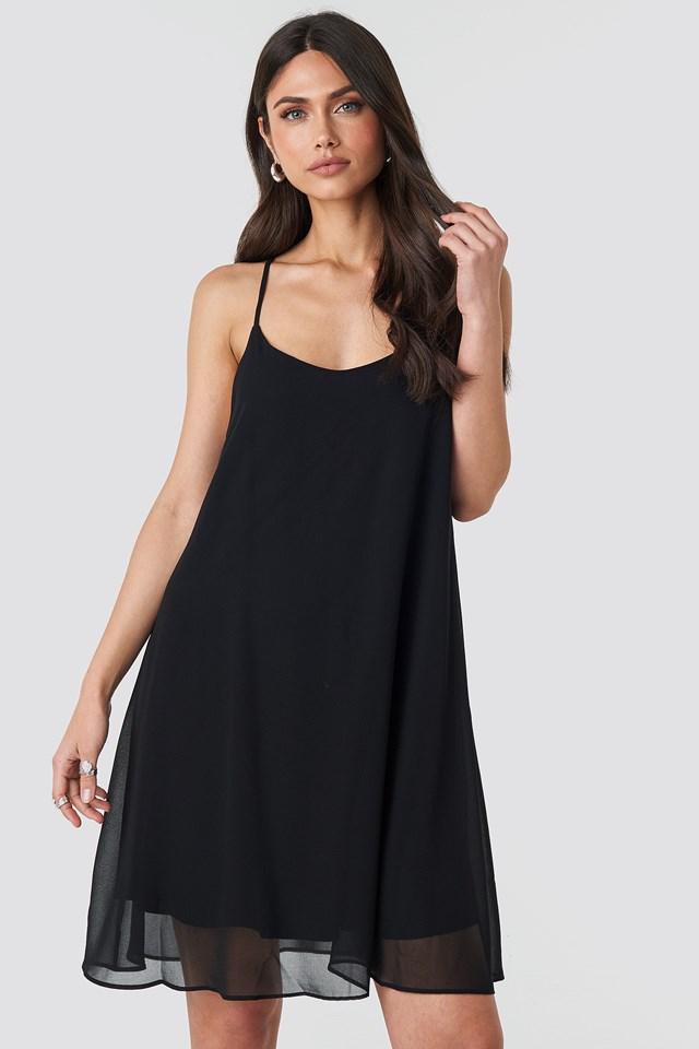 Cami Chiffon Dress Black