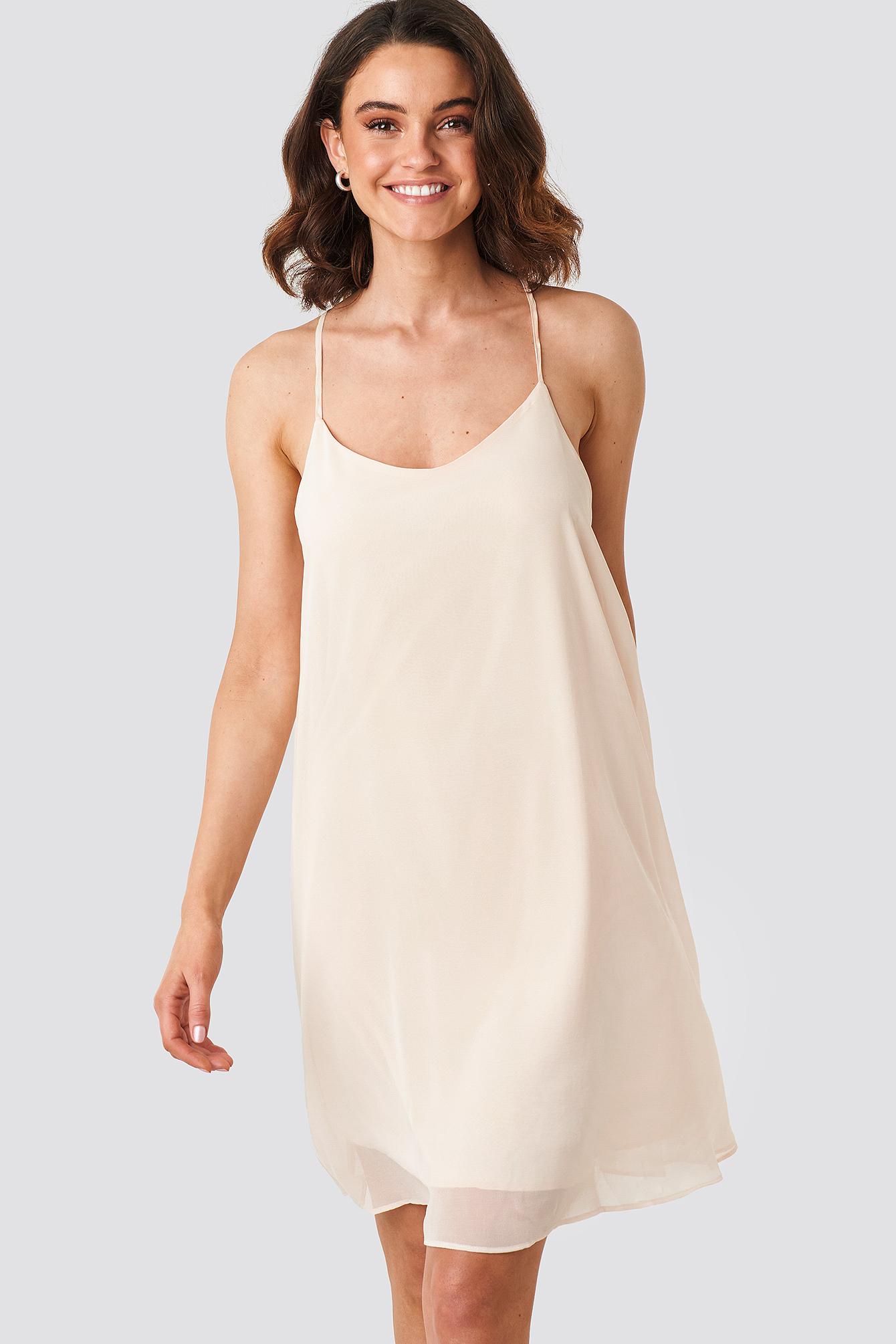 na-kd party -  Cami Chiffon Dress - Pink