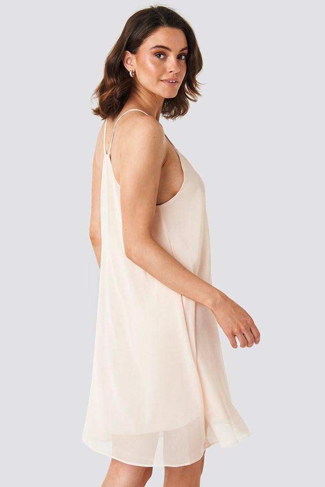 Cami Chiffon Dress Pink