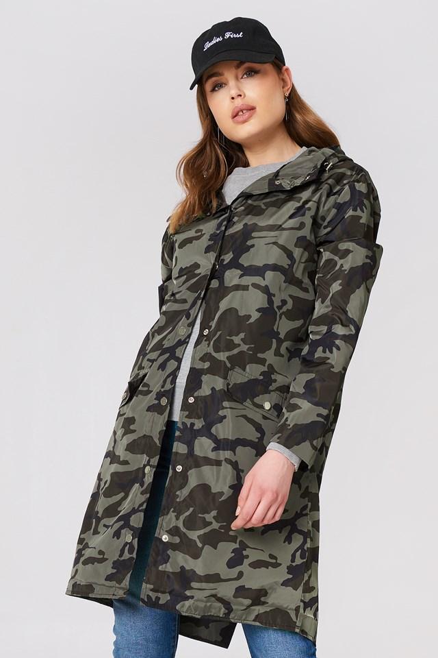 Camo Rain Coat NA-KD