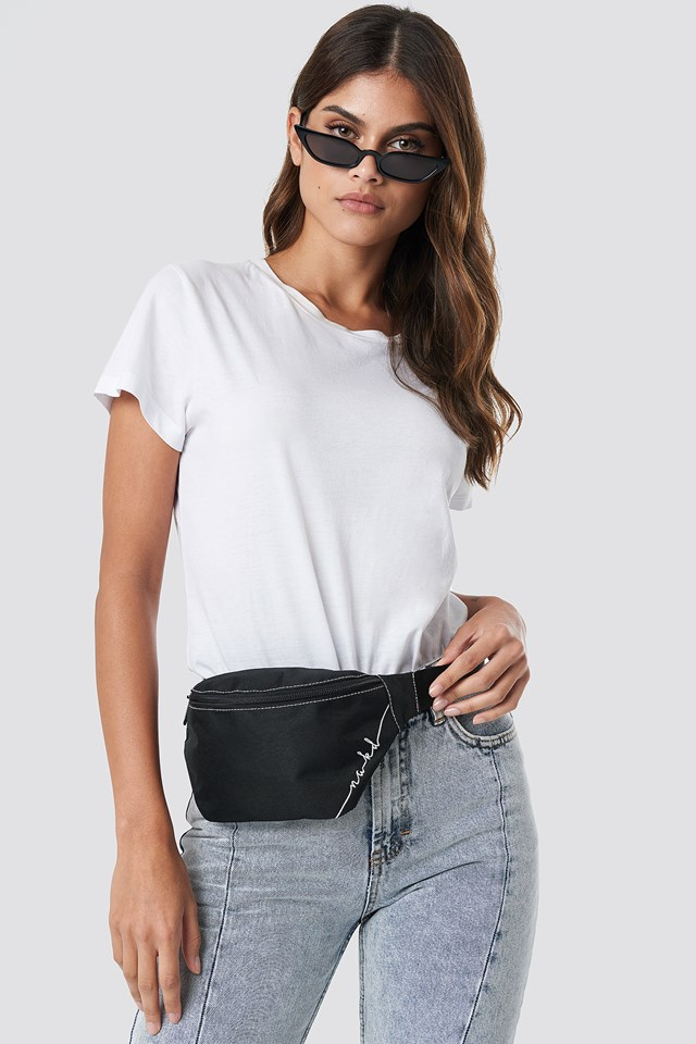Canvas Fanny Pack Black