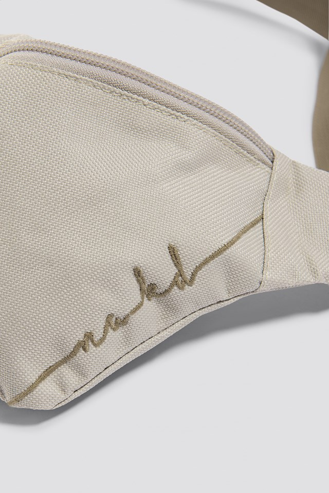 Canvas Fanny Pack Beige Combo