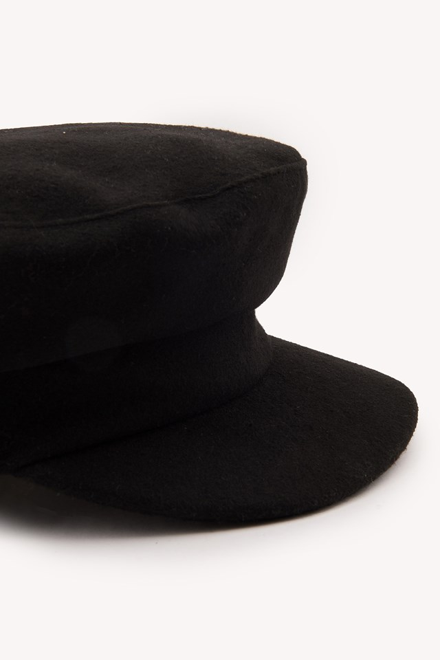 Czapka w stylu marynarskim Black