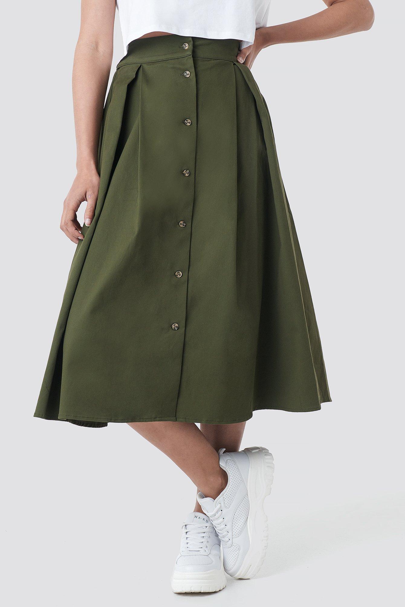 Cargo A-line Ankle Skirt NA-KD.COM