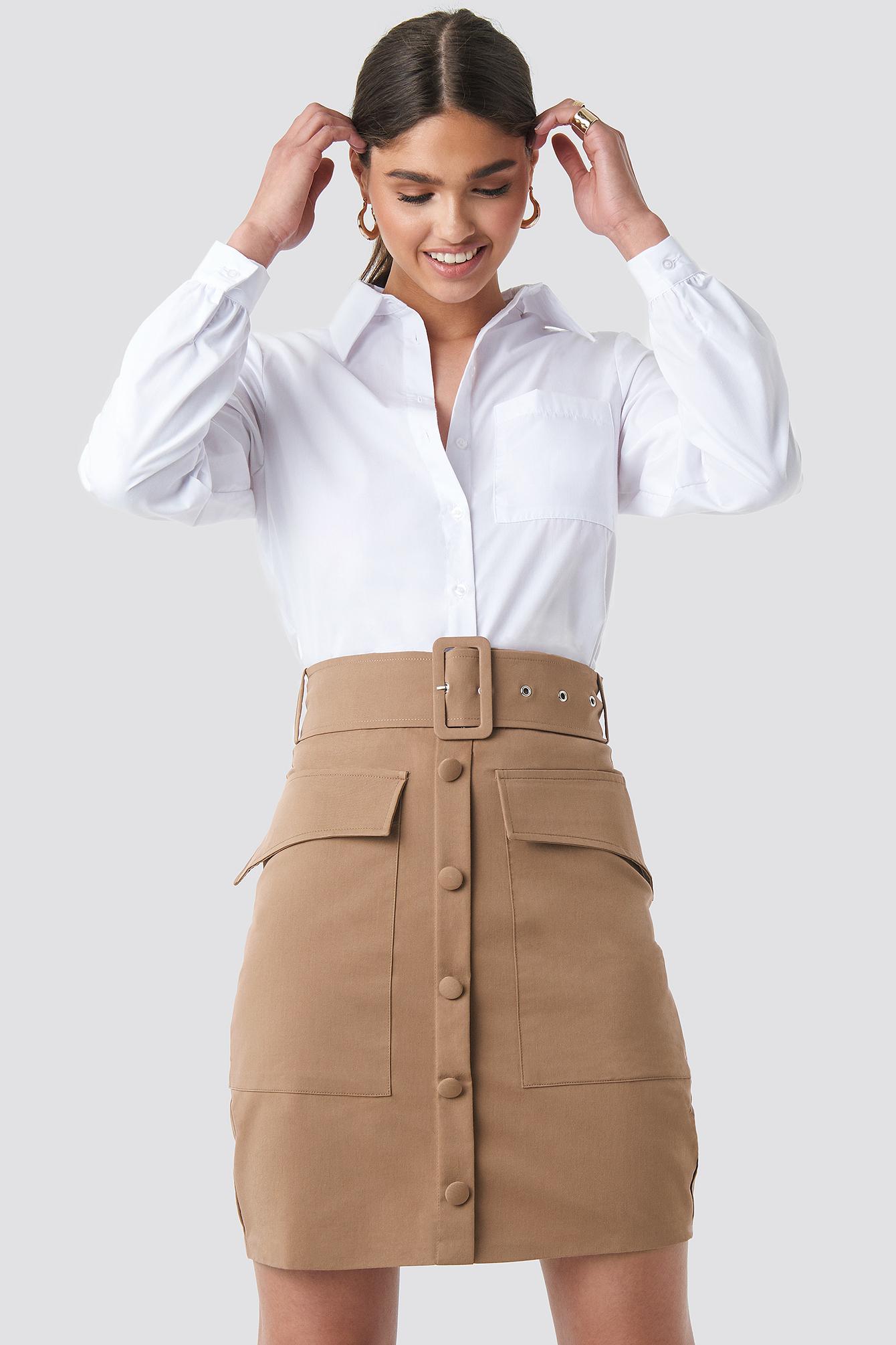 Cargo Belted Skirt NA-KD.COM