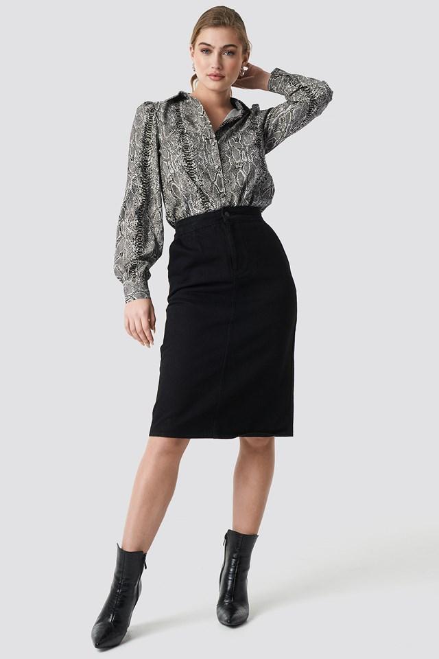 Cargo Midi Skirt Black