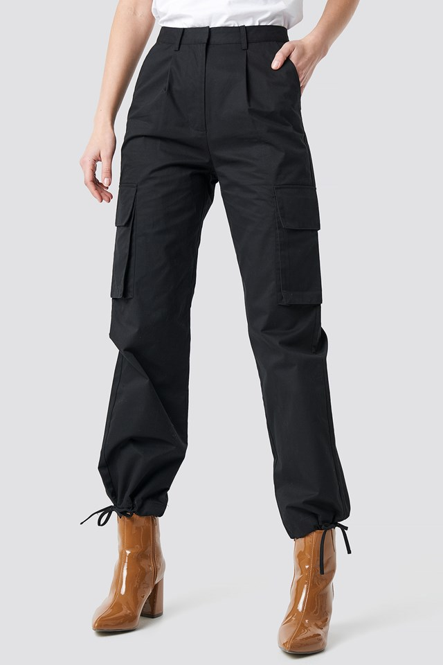 Cargo Wide Leg Pants Black