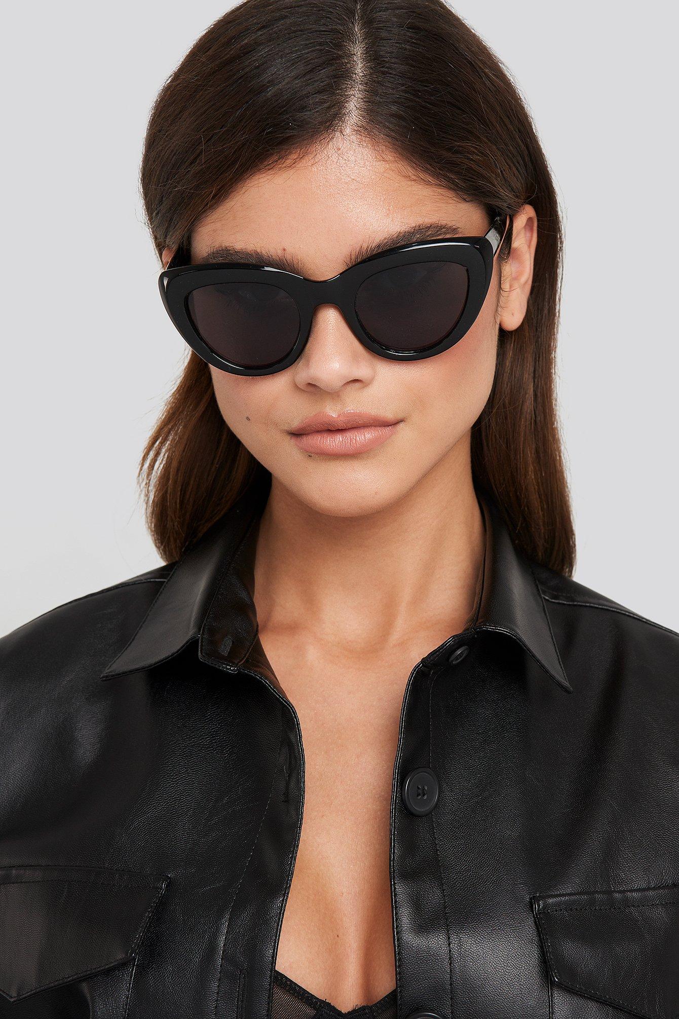 na-kd accessories -  Cat Eye Sunglasses - Black