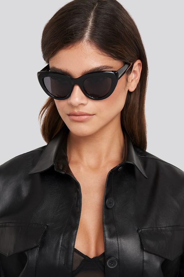 Okulary przeciwsłoneczne kocie oczy Black
