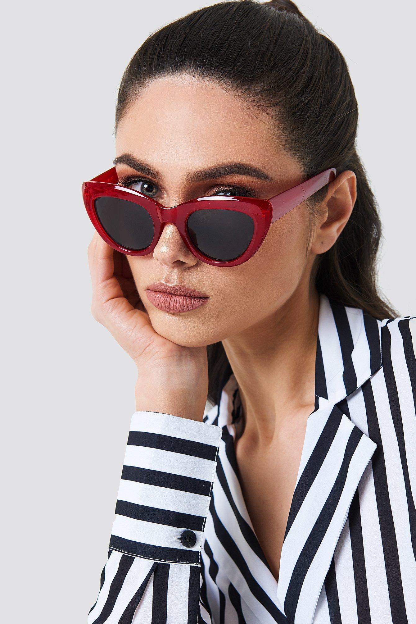 na-kd accessories -  Cat Eye Sunglasses - Red