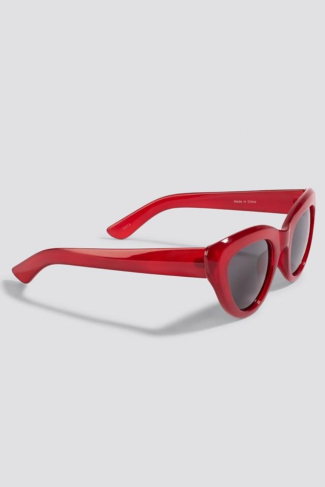Cat Eye Sunglasses Red