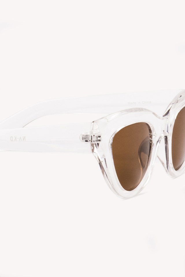 Cat Eye Sunglasses Transparent