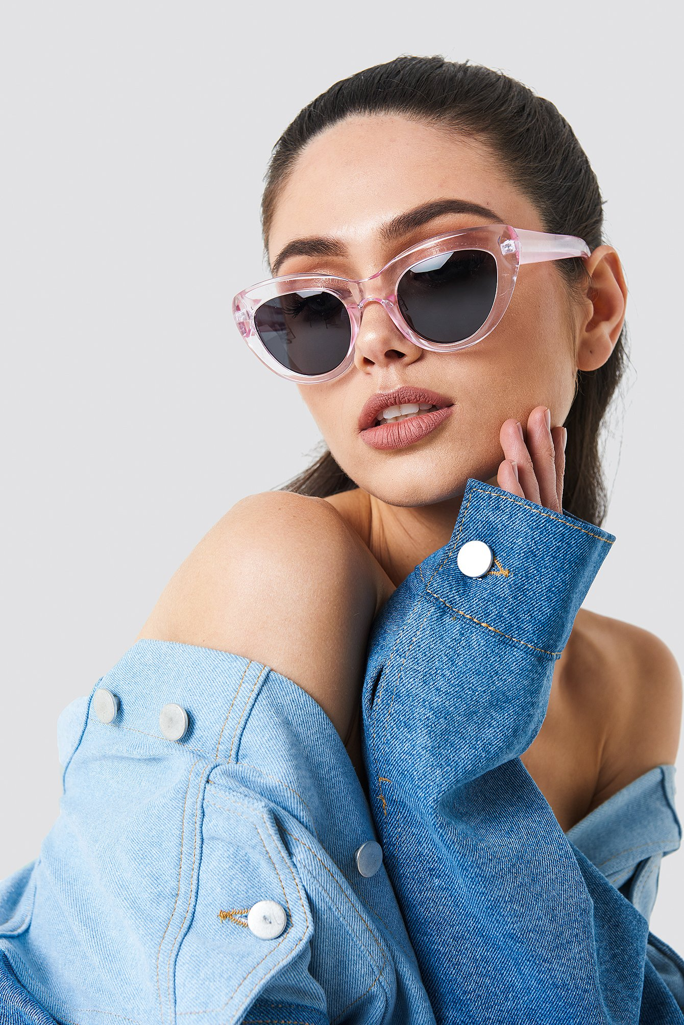 na-kd accessories -  Cat Eye Sunglasses - Pink