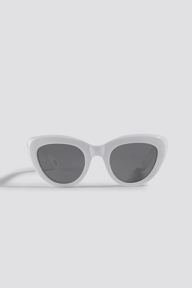 Cat Eye Sunglasses White
