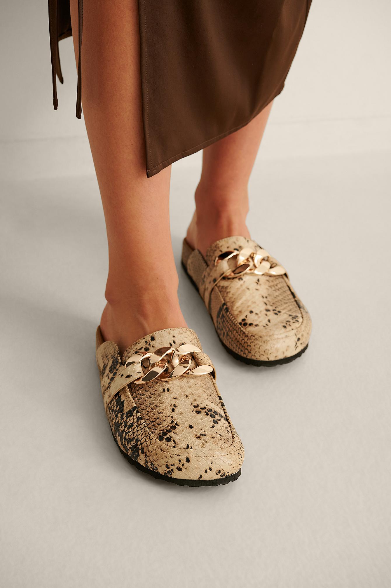 na-kd shoes -  Halbschuhe Mit Ketten-Details - Multicolor