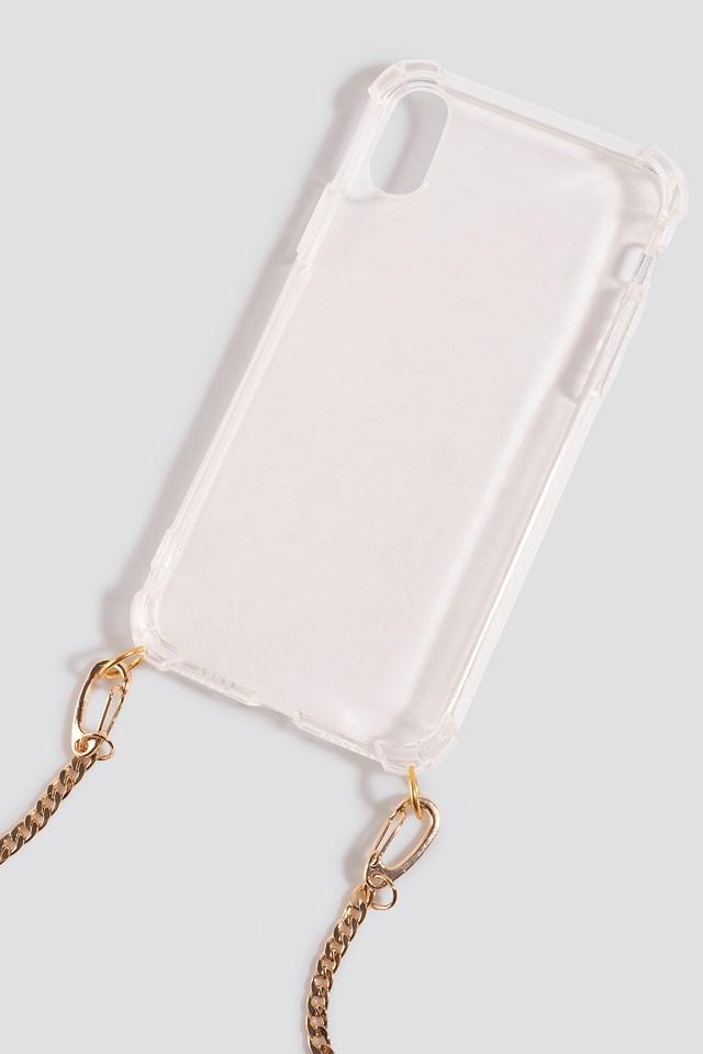 Chain Necklace Phone Case Transparent