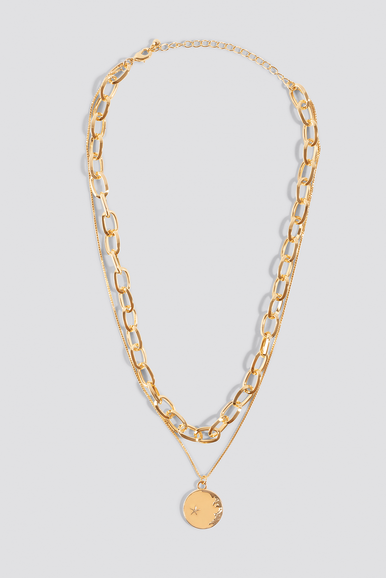 na-kd accessories -  Chain Pendant Double Necklace - Gold