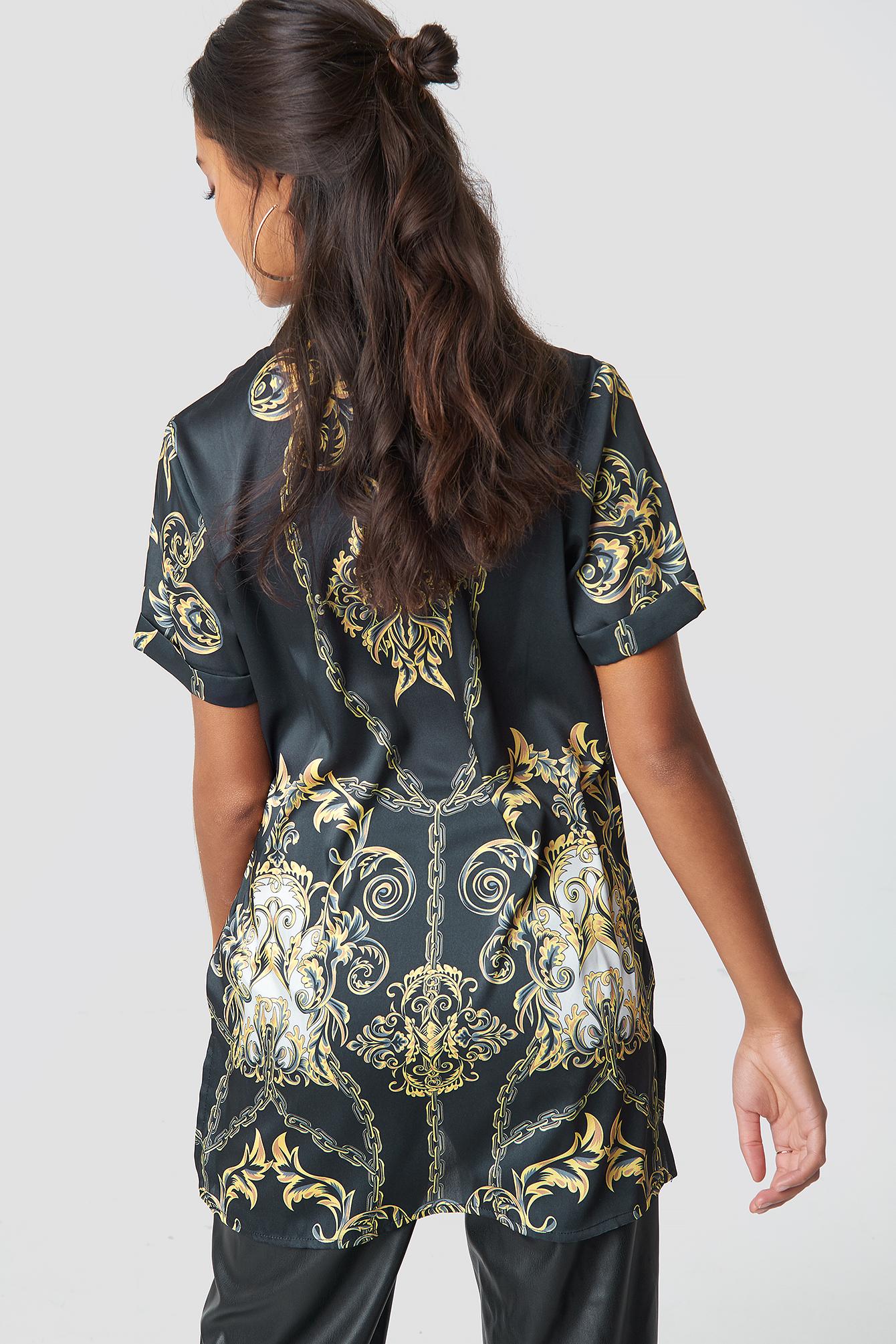Chain Print Shirt NA-KD.COM