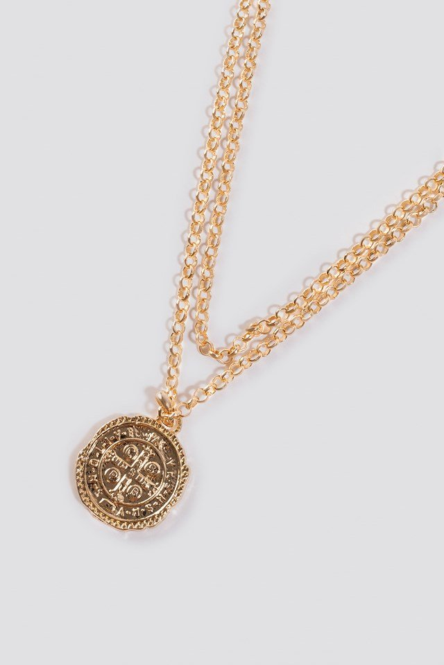 Chained Coin Pendant Necklace NA-KD Accessories