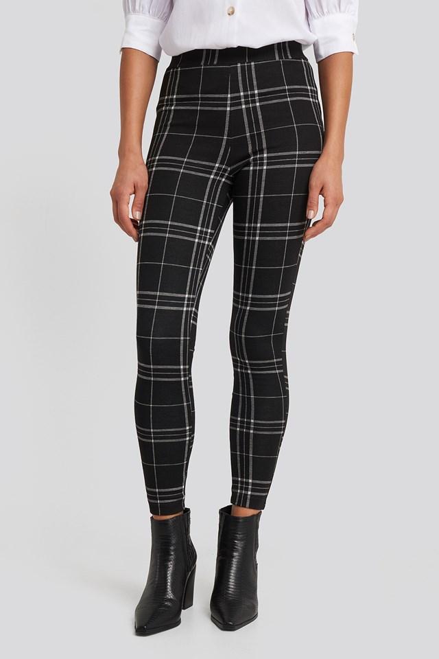 Check Leggings Black/White