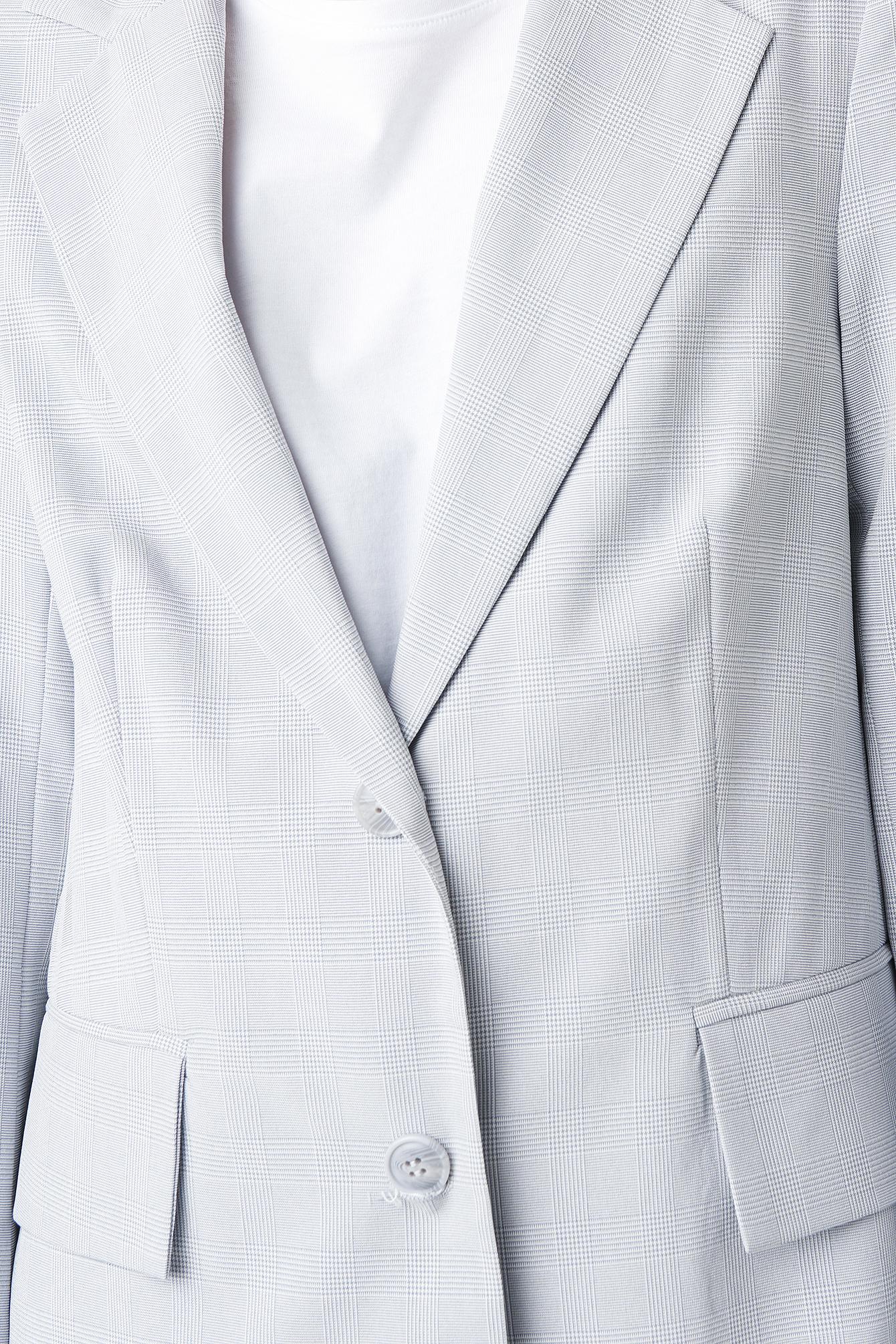 Check Straight Fitted Blazer NA-KD.COM