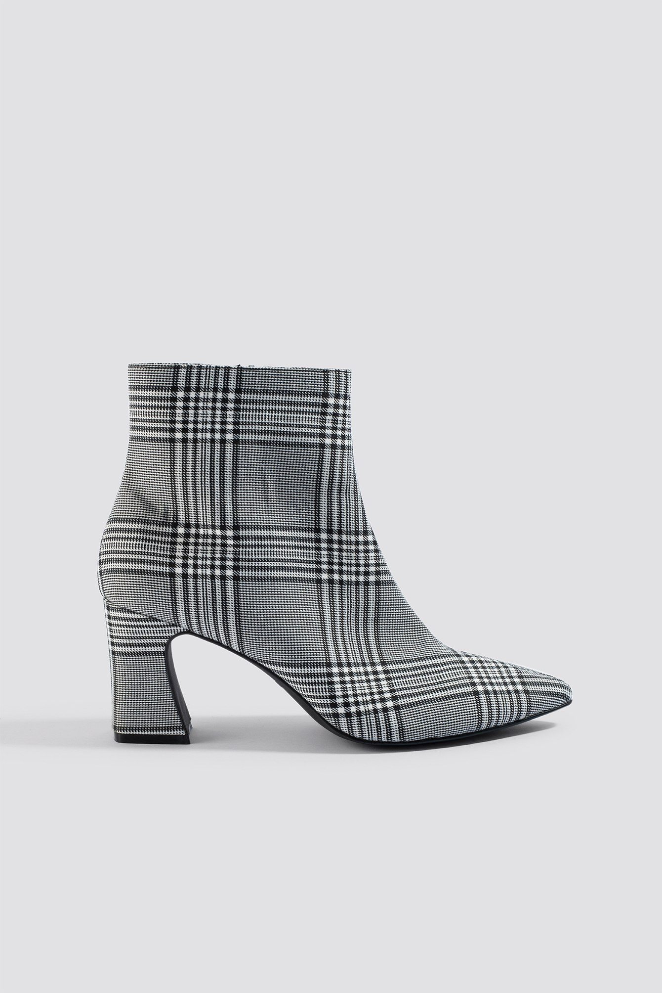 na-kd shoes -  Checked Ankle Boots - Grey