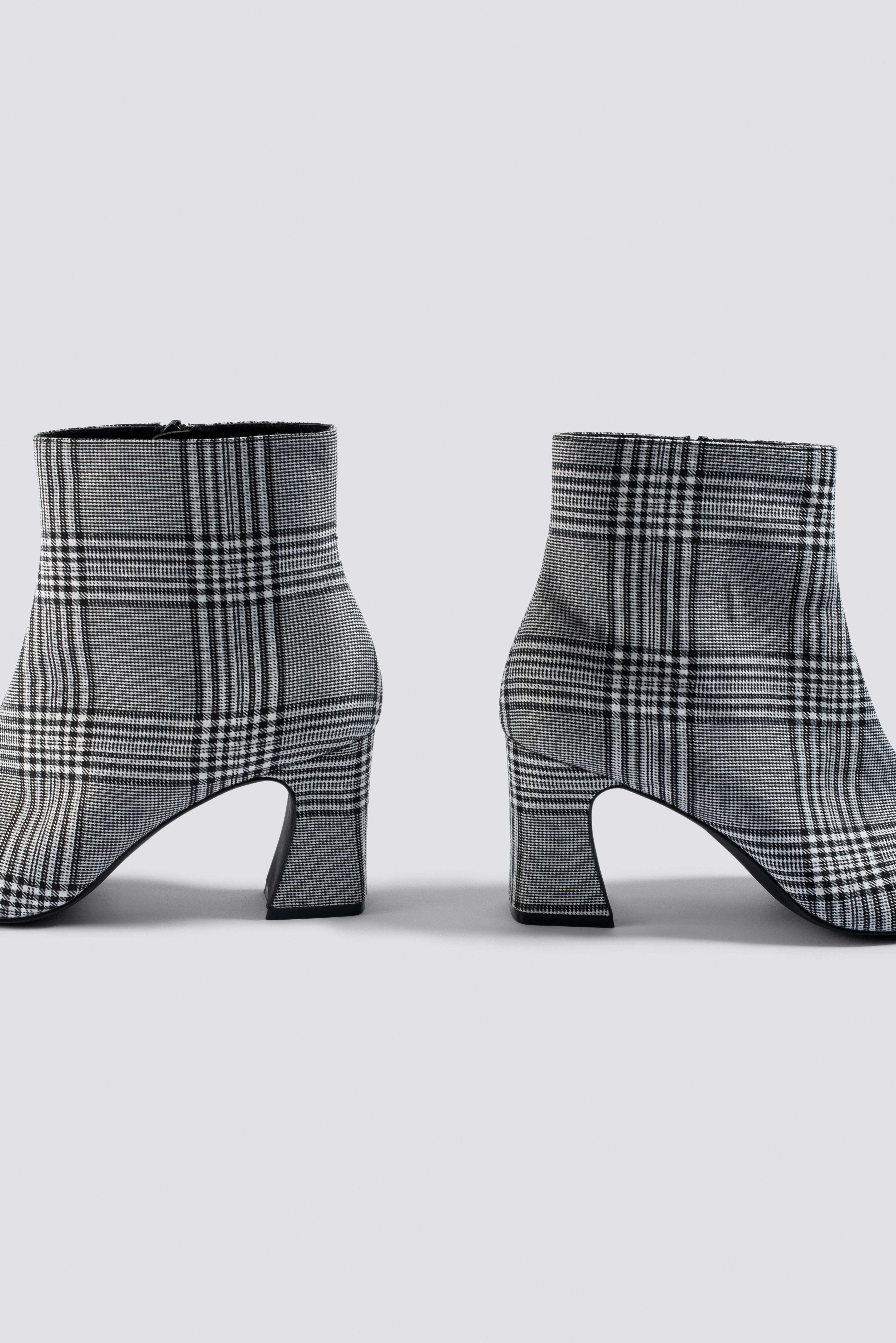 Checked Ankle Boots NA-KD.COM