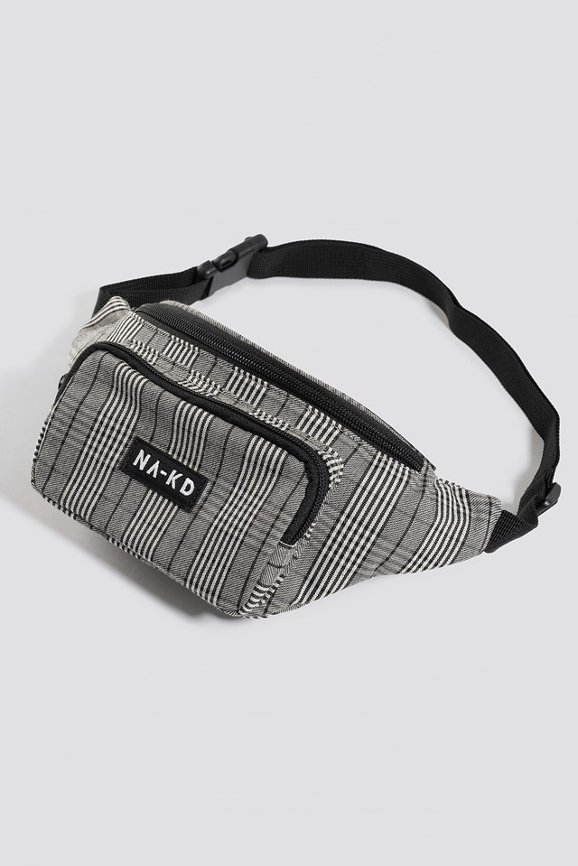 Checked Fanny Pack Black/White