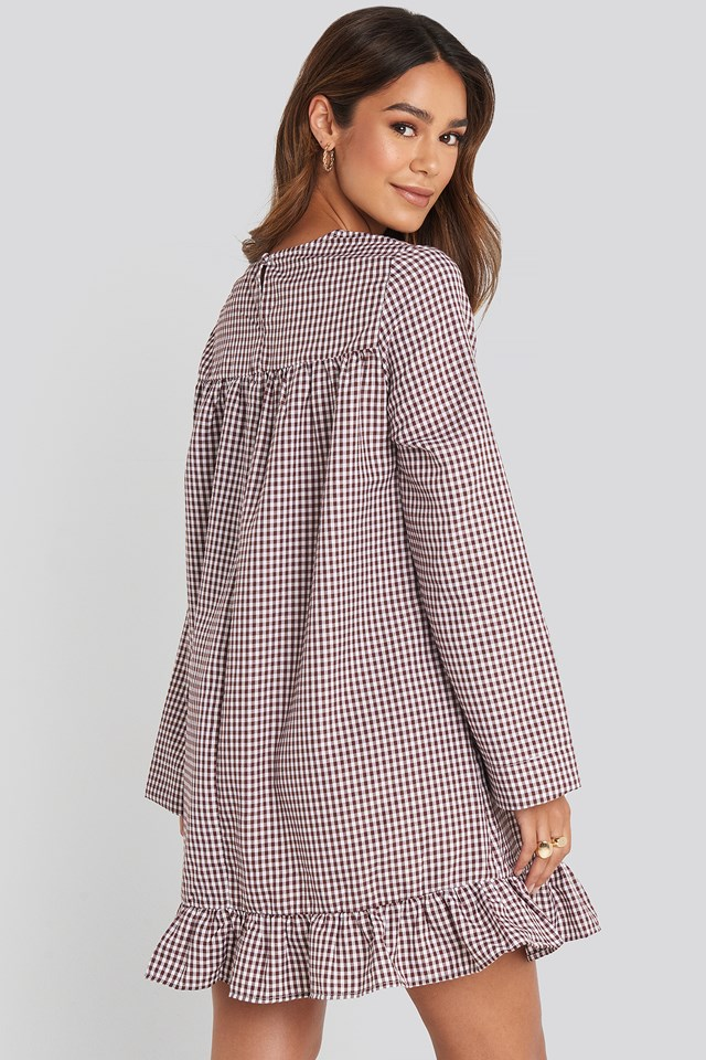 Checked Mini Dress Checked